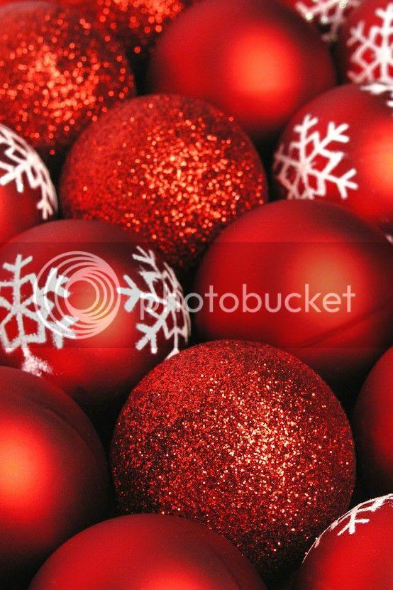 Natale decorazioni natalizie palline rosse