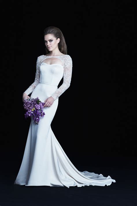 Long Sleeve Bolero Wedding Dress   Style #4763   Paloma Blanca