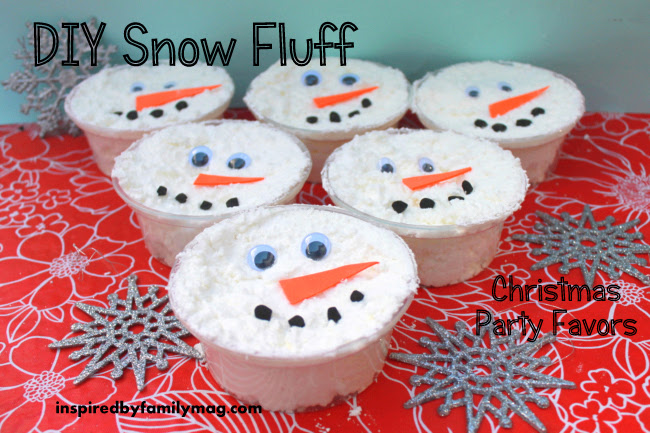 Winter Party Favors Diy Snow Dough Inspired By Family