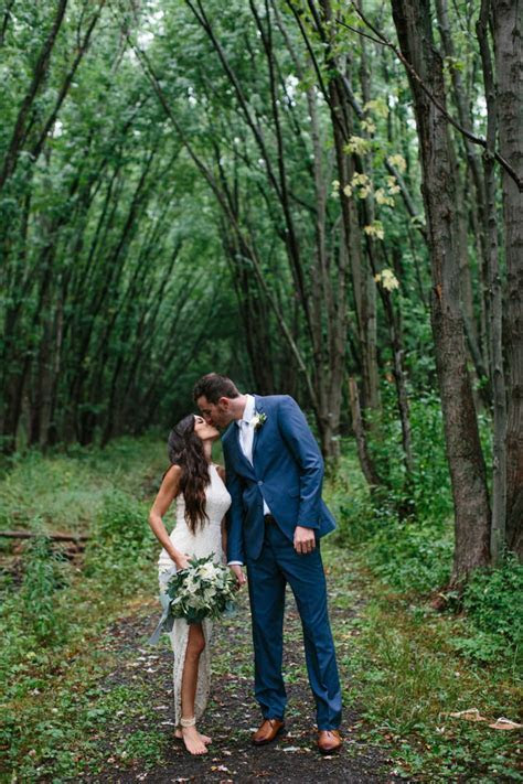 Jordan and Bobby's Rainy Outdoor Canadian Wedding with a