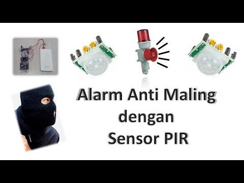Alarm Sensor PIR Tanpa Arduino