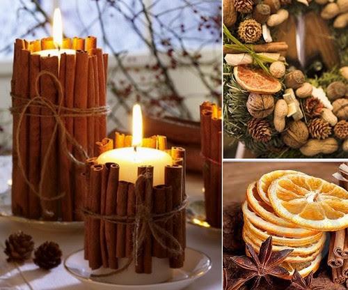 Agenda di margherita decorazioni natalizie con mandarini - Decorazioni natalizie con candele ...