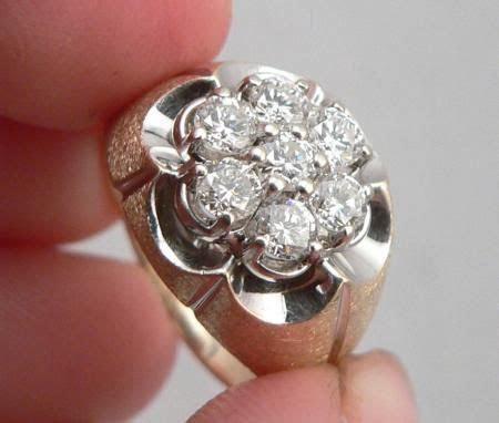 7 stone diamond rings     Solid GOLD 1.00ctw DIAMOND 7