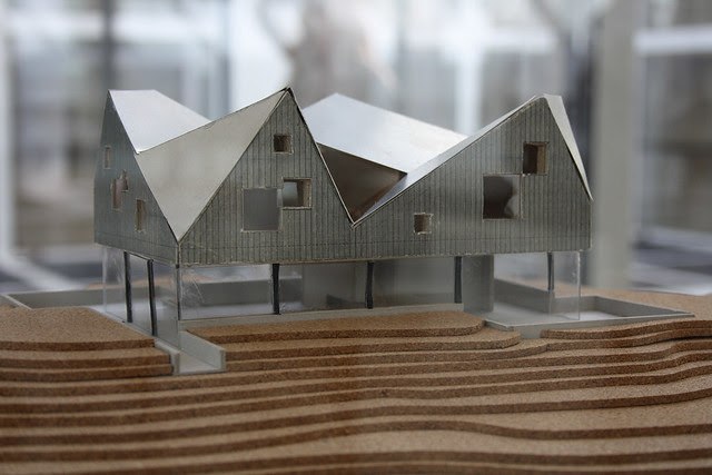 Model of dune house by Jarmund / Vignaes architects