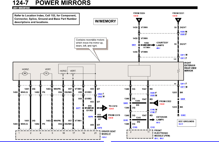 Wiring Window Power Windstar Switch Diagram2001ford