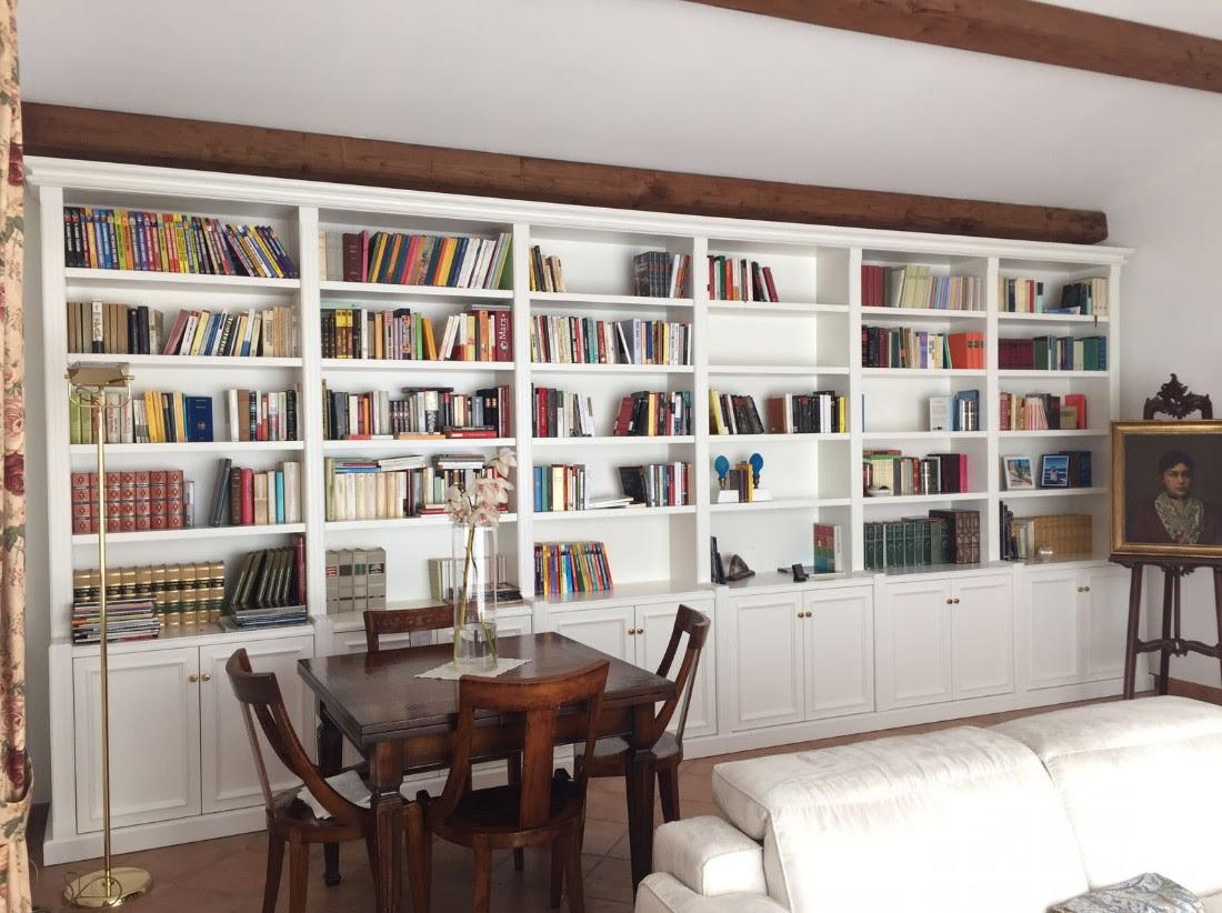biblioteche bianche su misura Roma