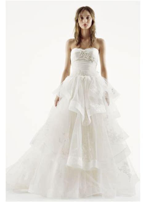White by Vera Wang Strapless Tulle Wedding Dress   David's