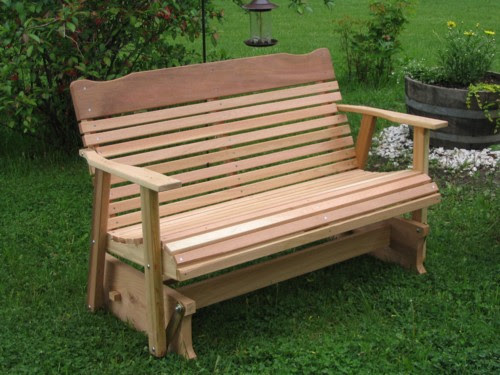 Kilmer Cedar Porch Gliders , Amish crafted outdoor furniture