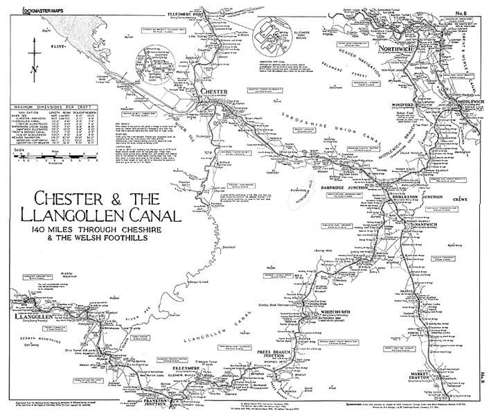 Llangollen Canal Map Llangollen Canal Map | Color 2018