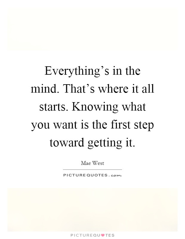 Everythings In The Mind Thats Where It All Starts Knowing
