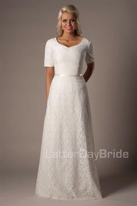 Austen Modest Wedding Dress Latter Day Bride & Prom