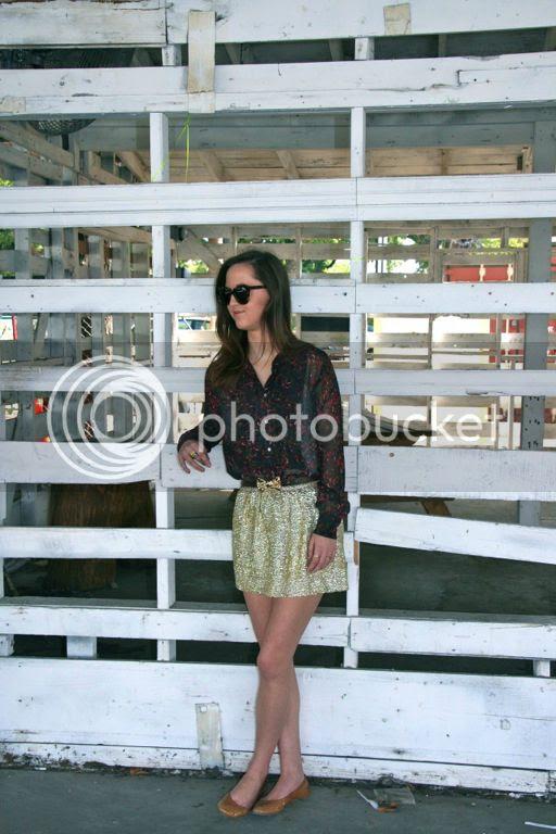 H&M Gold Sequin Skirt
