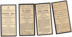 Ainscough family Mass Cards 1928-1929