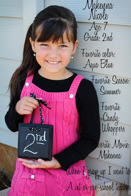 Small chalkboard for each of our students for their first day of school pic'...cute back to school idea <3 <3