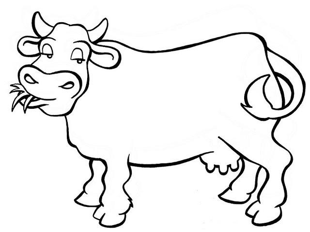 Animales Para Colorear E Imprimir Vaca Imagui Az Dibujos Para
