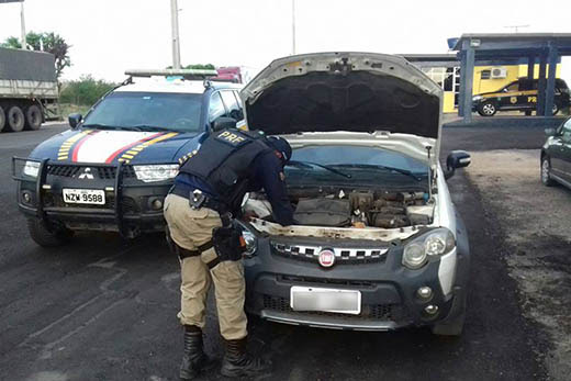 Condutor fugiu após deobedecer ordem de parada e abandonou veículo