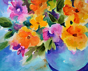 "Nature's Melody by Filomena Booth Watercolor ~ 12"" x 16"""