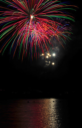 Fireworks over Lake Dillon