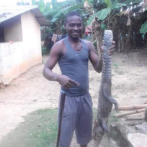 """In Niger Delta, Crocodile Will Never Smile, This One Is Ready For Pepper Soup"" (Pic)"