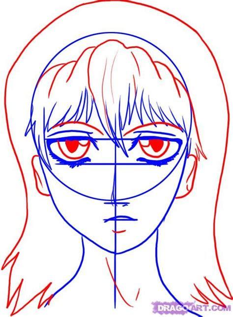 draw  manga face   draw anime face emo