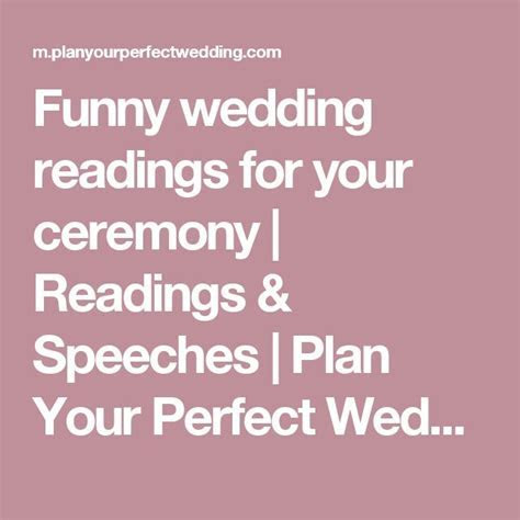 25  best ideas about Wedding readings funny on Pinterest