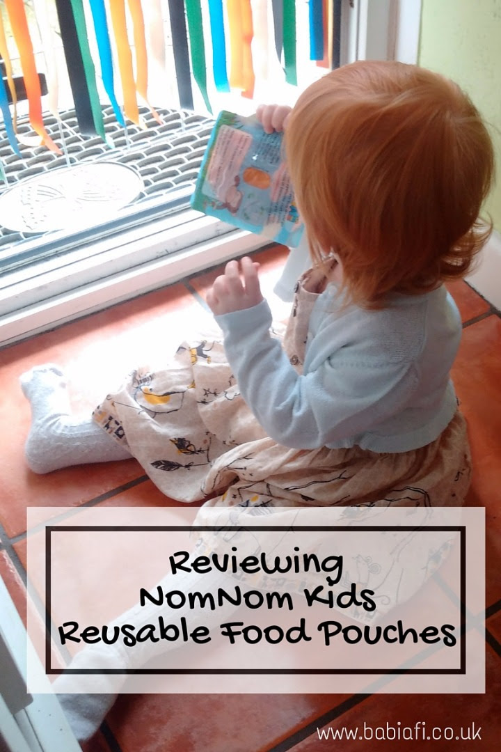 Reviewing NomNom Kids Reusable Food Pouches