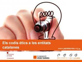 """Diapositiva del estudio """"Los códigos éticos a las entidades catalanas"""""""