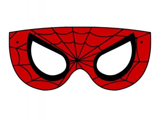 Maschera Spiderman Da Colorare Stampae Colorare