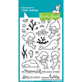 Lawn Fawn MERMAID FOR YOU Clear Stamps LF1167