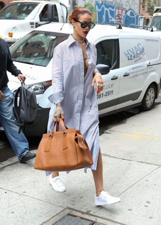 Le Fashion Blog Shirtdress Rihanna Streetstyle Sneakphoto Le-Fashion-Blog-Shirtdress-Rihanna-Streetstyle-Sneakers-Casual-Summer-Via-Vogue.jpg