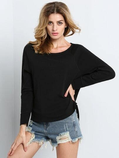 Black Long Sleeve Hollow Cross Sweatshirt pictures