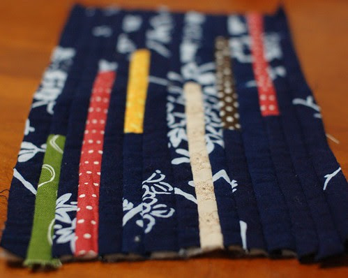 How to make a string quilt pouch 7