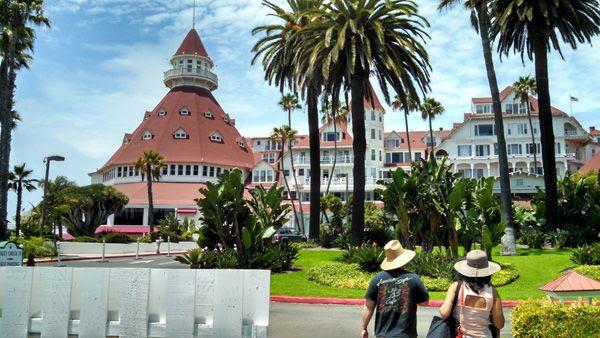 Visiting the Hotel del Coronado on Coronado Island in San Diego, on July 25, 2014.