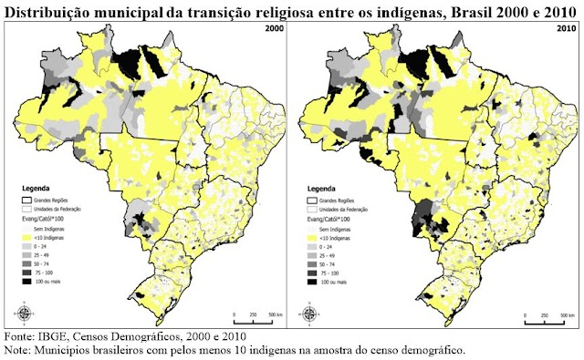 A evangelização dos índios e a transição religiosa entre os povos originários