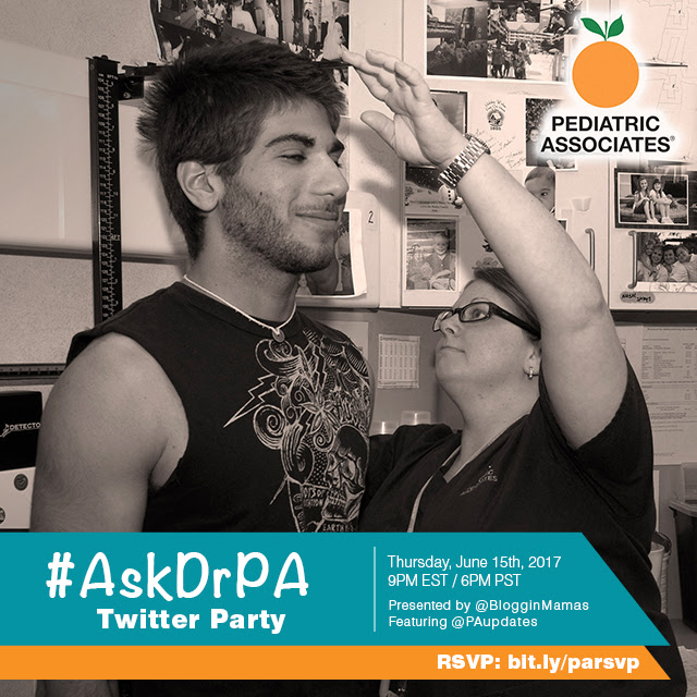 Pediatric Associates #AskDrPA Twitter Party 6-15-17 at 9p ET bit.ly/parsvp