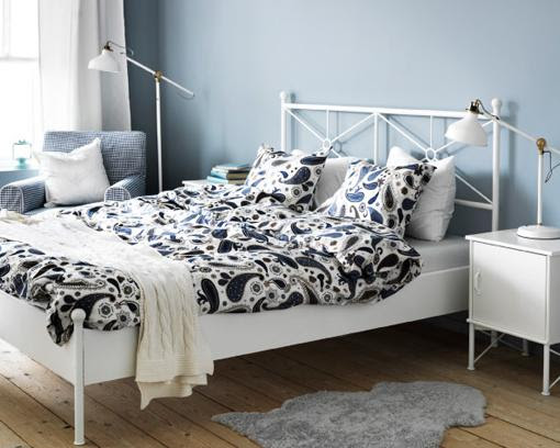 Dormitorio muebles modernos cabeceros de cama forja ikea - Camas de ikea ...