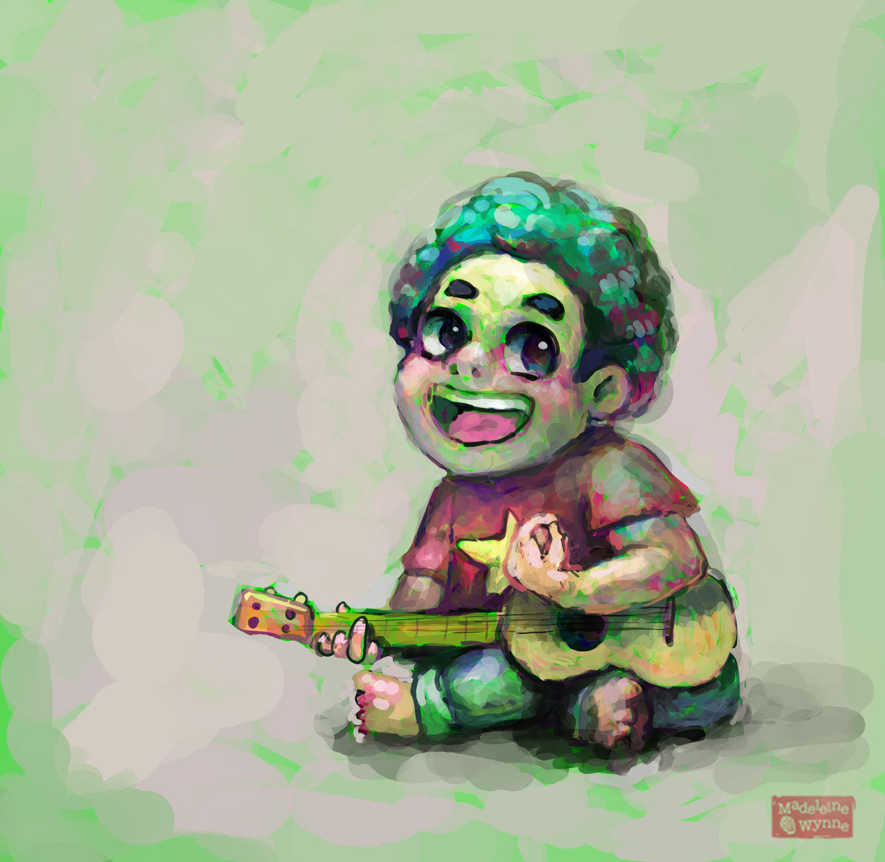 It's been a while since I uploaded new art. Here's a Steven and his ukelele to make up for it