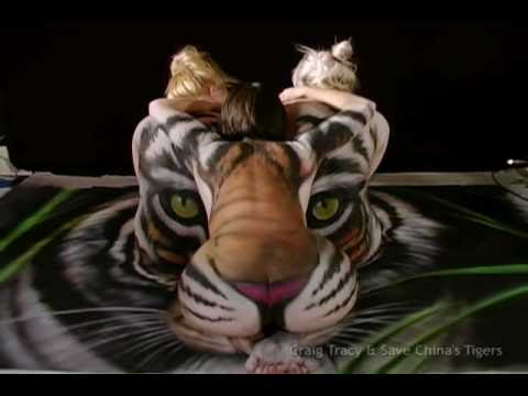 Craig Tracy Body Painting Gallery - The Last South China