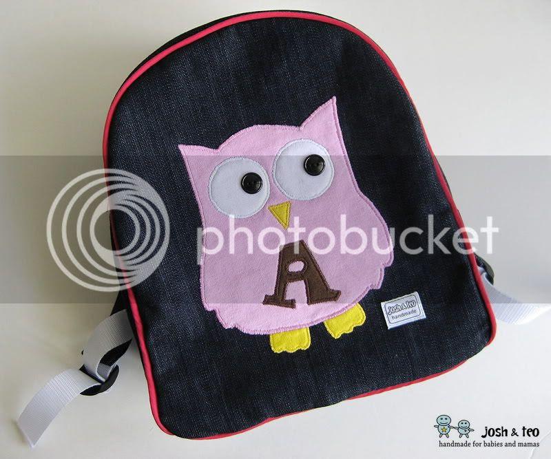 My Handmade Home Owl Toddler Backpack
