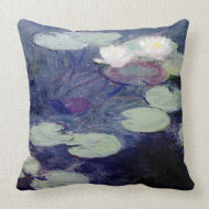 Pink Water-Lilies: 1897-99 by Monet throwpillow