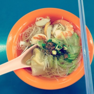 Prawn noodles from the sch canteen. So #oldschool !  (Taken with Instagram)