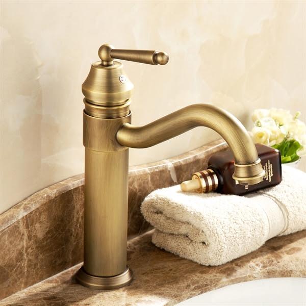 Antique Brass Single Handle Centerset Bathroom Sink Faucet1039 Ma1120
