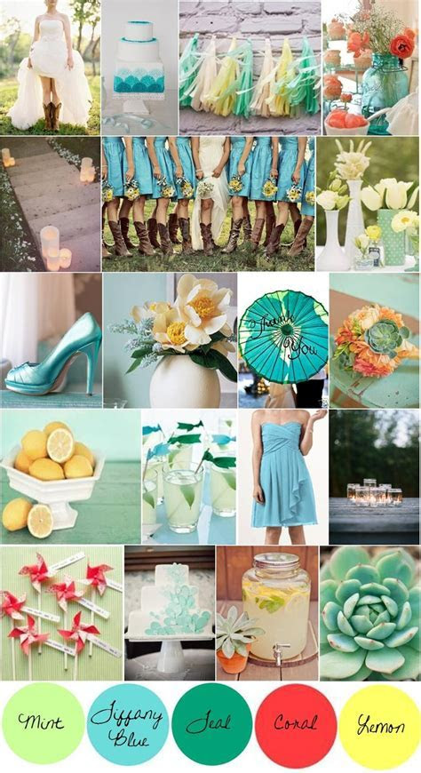 67 best images about Tiffany blue and coral wedding on