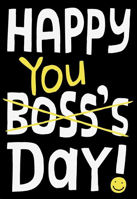 Happy You Day Boss's Day Card   National Boss Day Greeting