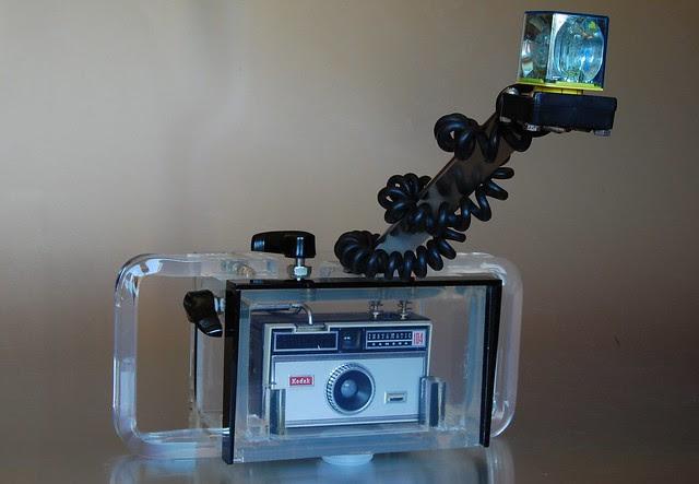Kodak Instamatic 104 in Dacor UW enclosure