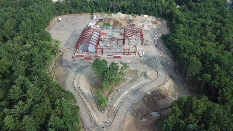 construction at 500 Financial Park Drive is moving along (BFCCPS photo)