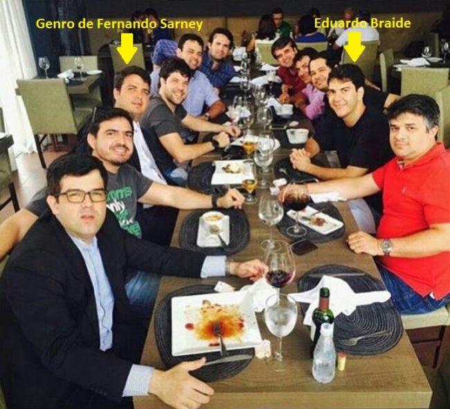 Eduardo Braide e seus amigos da alta sociedade