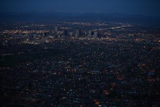Denver Sunrise Aerial 25 min before sunrise