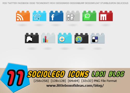 SocioLEGO media icon set