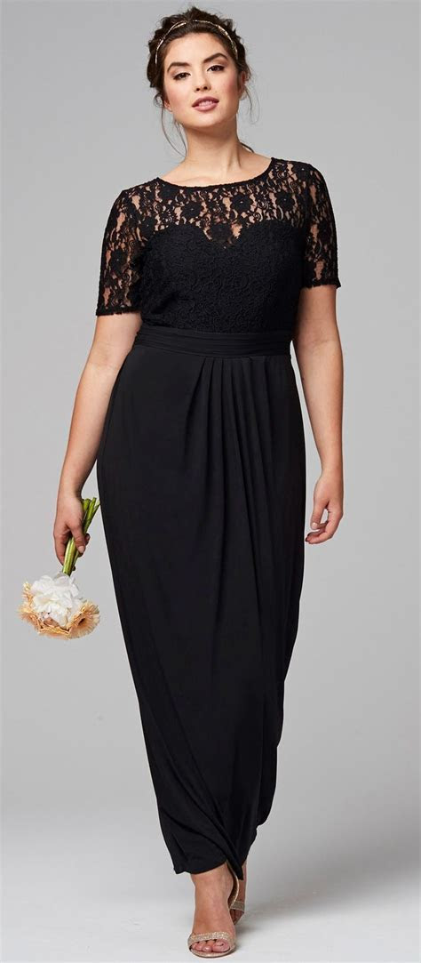 45 Plus Size Wedding Guest Dresses {with Sleeves}   Full